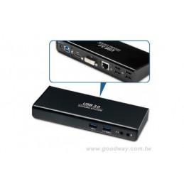 Docking station Usb 3.0 HDMI-DVI LAN Hub 6 PORTS