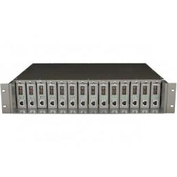"""TPLINK TL-MC1400 CHASSIS 19"""" 14 SLOT FIBRE"""
